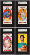 Basketball Cards:Lots, 1969 - 1970 Topps Basketball Collection (57) with 9 Graded HoF's....