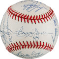 Autographs:Baseballs, 1978 New York Yankees Reunion Team Signed Baseball....