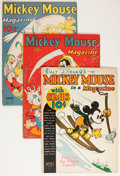 Platinum Age (1897-1937):Miscellaneous, Mickey Mouse Magazine V2#4, V3#4, and V3#7 Group (K. K.Publications/ Western Publishing Co., 1937-38).... (Total: 3 Items)