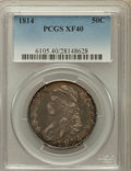Bust Half Dollars: , 1814 50C XF40 PCGS. PCGS Population (72/368). NGC Census: (35/500).Mintage: 1,039,075. Numismedia Wsl. Price for problem f...