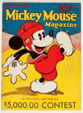 Platinum Age (1897-1937):Miscellaneous, Mickey Mouse Magazine #3 (K. K. Publications/ Western PublishingCo., 1935) Condition: Apparent VF-....