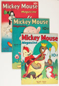 Platinum Age (1897-1937):Miscellaneous, Mickey Mouse Magazine V3#8-11 Group (K. K. Publications/ WesternPublishing Co., 1938)... (Total: 4 Items)