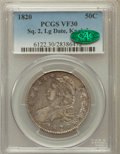 Bust Half Dollars: , 1820 50C Square Base Knob 2, Large Date VF30 PCGS. CAC. PCGSPopulation (4/121). NGC Census: (0/0). ...