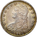 Bust Half Dollars, 1834 50C Small Date, Small Letters AU58+ NGC. CAC. O-110, R.3....