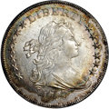 Early Dollars, 1798 $1 Small Eagle, 13 Stars MS63 NGC. B-1, BB-82, R.2....