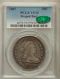 Early Half Dollars: , 1807 50C Draped Bust VF25 PCGS. CAC. PCGS Population (111/719). NGCCensus: (59/1411). Mintage: 301,076. Numismedia Wsl. Pr...