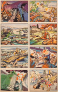 Non-Sport Cards:Singles (Pre-1950), 1938 R69 Horrors of War 8-card Uncut Panel. ...