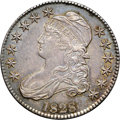 Bust Half Dollars, 1828 50C Square Base 2, Small 8, Large Letters AU58 NGC. CAC.O-118, R.3....