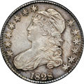 Bust Half Dollars, 1828 50C Square Base 2, Small 8, Large Letters AU58 NGC. CAC.O-112, R.3....