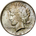 Peace Dollars, 1921 $1 MS64 NGC. CAC. ...