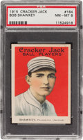 Baseball Cards:Singles (Pre-1930), 1915 Cracker Jack Bob Shawkey #164 PSA NM-MT 8 - Only One Higher....