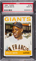 Baseball Cards:Singles (1960-1969), 1964 Topps Willie Mays #150 PSA Mint 9 - Only One Higher. ...