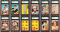 Baseball Cards:Lots, 1962 Topps Baseball SGC Graded Collection (94). ...