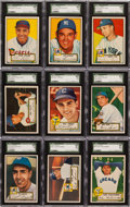 Baseball Cards:Lots, 1952 Topps Baseball SGC 86 NM+ 7.5 and SGC 84 NM 7 Collection (17)....