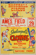 Baseball Collectibles:Others, 1950's Indianapolis Clowns Negro League Broadside.... (Total: 22item)