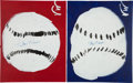 Autographs:Others, Circa 2010 Stan Musial Signed Victoria Wright Original Artwork Lotof 2. ...