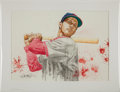 Baseball Collectibles:Others, 2013 Stan Musial Original Artwork by Kevin John....