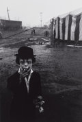 Photographs:20th Century, BRUCE DAVIDSON (American, b. 1933). Circus Dwarf, Palisades, NewJersey, 1958. Gelatin silver, before 1971. 12 x 8 inche...