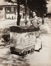 EUGÈNE ATGET (French, 1857-1927) Boulangerie Cart, 1899 Gelatin silver, printed later 8-1/2 x 6-1