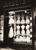 Photographs:20th Century, EUGÈNE ATGET (French, 1857-1927). Boulevard de Strasbourg,Corsets, 1912. Gelatin silver, printed later. 9-1/4 x 6-5/8i...