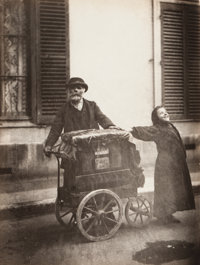 EUGÈNE ATGET (French, 1857-1927) Organ Grinder, 1899 Gelatin silver, printed later 8-1/2 x 6-1/2