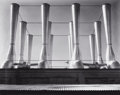 Photographs:20th Century, IMOGEN CUNNINGHAM (American, 1883-1976). Fageol Factory(Ventilators), Oakland, 1934. Gelatin silver, printed later.7-1...