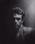 Photographs:20th Century, ROY SCHATT (American, 1909-2002). James Dean, circa 1954.Vintage gelatin silver. 16-3/4 x 13-1/2 inches (42.5 x 34.3 cm...