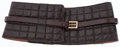 Luxury Accessories:Accessories, Chanel 80cm Brown Quilted Leather Belt with Brushed Gold Hardware....