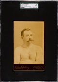 Boxing Cards:General, C. 1890's Elmer Chickering Jake Kilrain Cabinet Photo SGC 10 Poor1. ...