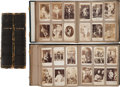 "Non-Sport Cards:Lots, 19th Century ""American Card Album"" Pair Filled With Over 500 Trade Cards. ..."
