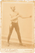 Boxing Cards:General, 1890's A. L. Knighten George Dixon Cabinet Photo. ...