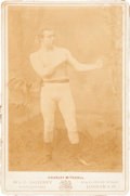 Boxing Cards:General, 1890's Charley Mitchell Cabinet Photograph. ...