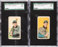 Baseball Cards:Lots, 1909-11 T206 Hindu Cigarettes SGC Graded Pair (2). ...
