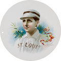 Baseball Cards:Singles (Pre-1930), 1888 A35 Goodwin Round Album Page of Charles Comiskey. ...