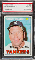 Baseball Cards:Singles (1960-1969), 1967 Topps Mickey Mantle #150 PSA Mint 9....