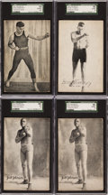 Boxing Cards:General, 1920's Boxing Exhibit Collection (23) With Two Jack Johnson Cards....