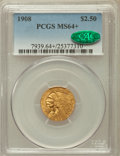 Indian Quarter Eagles, 1908 $2 1/2 MS64+ PCGS. CAC....