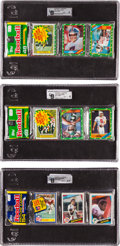 Football Cards:Singles (1960-1969), 1984 - 1986 Topps Football Rack Pack Trio with a HoF Rookie on Front (3). ...