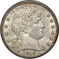 Barber Quarters, 1914-D 25C MS64 NGC. CAC....