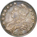 """Bust Half Dollars, 1828 50C Square Base 2, Large 8 AU53 NGC. O-109, R.3. Ex: """"Col.""""E.H.R. Green. Repunching within the first 8 in the date id..."""