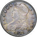 "Bust Half Dollars, 1829 50C Small Letters AU55 NGC. O-117, R.2. Ex: ""Col."" E.H.R.Green. Golden-brown luster emerges from the otherwise deep g..."