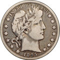 """Barber Half Dollars, 1895-O 50C Fine 12 NGC. CAC. Ex: """"Col."""" E.H.R. Green. Exhibiting amedium gray appearance overall, this piece reveals shade..."""