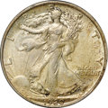 "Walking Liberty Half Dollars, 1920 50C AU58 NGC. CAC. Ex: ""Col."" E.H.R. Green. A lovely near-Mintexample, this coin displays champagne color on both sid..."