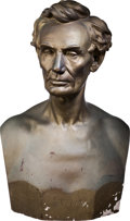 Political:3D & Other Display (pre-1896), Abraham Lincoln: From Life Plaster Bust by Leonard Volk....