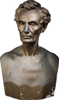 Abraham Lincoln: From Life Plaster Bust by Leonard Volk