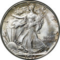 Walking Liberty Half Dollars, 1942 50C MS65 NGC. CAC. An attractive Gem example, this coindisplays rich satin luster and a pleasing strike. The coin rem...