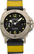 Timepieces:Wristwatch, Panerai Ref. OP 6528 Titanium Luminor Submersible Automatic. ...