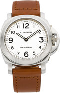 Timepieces:Wristwatch, Panerai Luminor OP 6502 Steel Wristwatch A0230/1000. ...