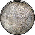 """Morgan Dollars, 1897-S $1 MS64 NGC. Ex: """"Col."""" E.H.R. Green. Faintly shimmering luster is most visible at a """"wedge"""" of apricot patina on th..."""