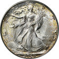 Walking Liberty Half Dollars, 1946-D 50C MS65 NGC. CAC. In addition to displaying rich frostyluster, this Gem also exhibits attractive toning on both si...